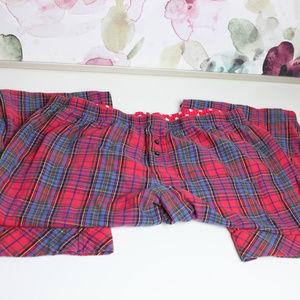Victoria's Secret Red Plaid Pajama Pants Medium
